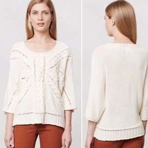 Anthropologie Rosie Neira Lerici Cabled Sweater
